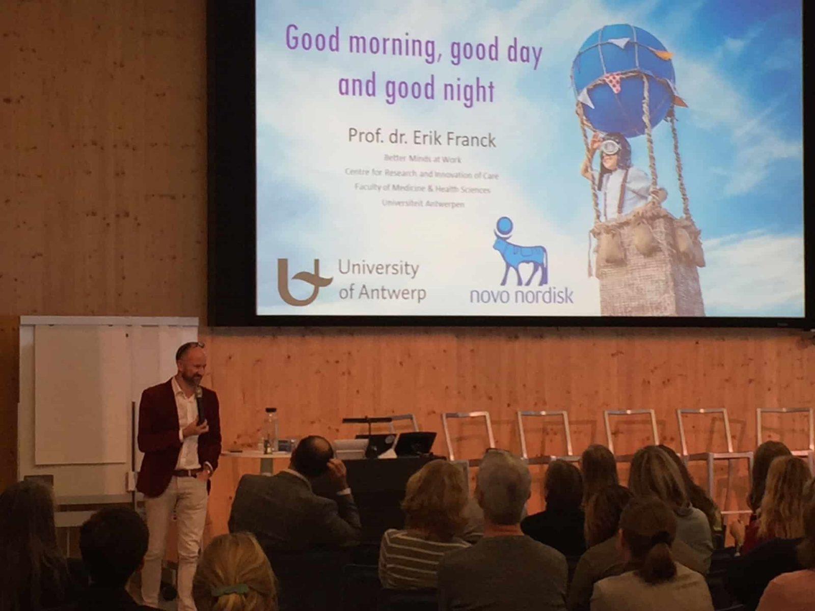 Erik Franck geeft een lezing bij  Novo Nordisk in Kopenhagen